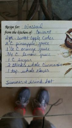 Wassail recipe. Perfect for Christmas. Put in a crockpot or on the stove and enjoy!