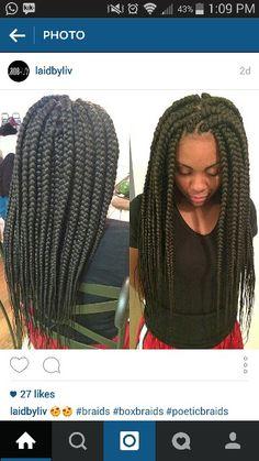 thick box braids