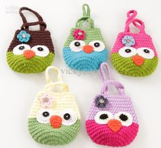 Cute - New Arrival Hand Knitting OWl Handbag Bags Kids Infant Crochet Handbags Knitted Bag Flower Purse - JZX600F Online with $6.15/Piece | ...