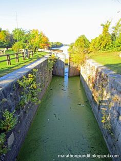 The I&M Canal at Lock 16 in LaSalle, Illinois, near the end of the waterway.