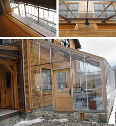 Passive Solar Homes with attached greenhouse | Radiant tubing runs through all barn and farmhouse floors in concrete ...