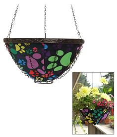 Paws All Around Hanging Garden Art Basket $29.95 and funds 28 bowls of food