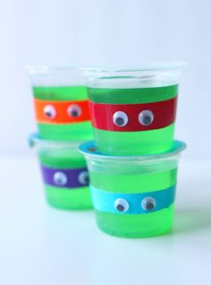 TMNT Jello cups for Teenage Mutant Ninja Turtles Out of the Shadows in Theaters June 3rd #ad