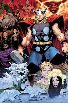 Thor and the Asgardians by Olivier Coipel *