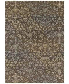 """Couristan Dolce Indoor/Outdoor Coppola Brown-Beige 8'1"""" x 11'2"""" Area Rug $299.00 A bold update on classic styles, the warm brown ground of this fantastic Dolce Indoor/Outdoor Coppola area rug from Couristan is embellished with wondrous floral motifs accented in shimmering hues of gold and gray."""