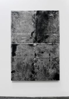 Ryan Estep, Untitled. Charcoal, Drywall mud on canvas. 68 x 47 x 1.5 inches. 2013.