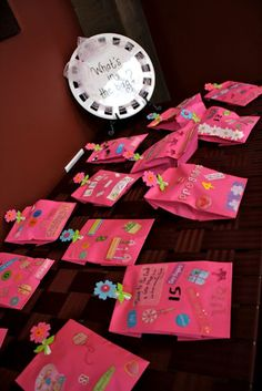 Cute baby shower game - guess what baby item is in each bag!