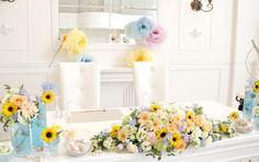結婚式の会場装花~海♡キャナル~|しあわせはこび隊 ポポの活動日記