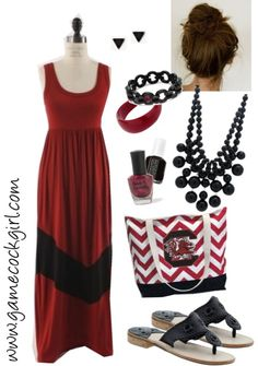 Gamecock Girl Gameday Look - Gorgeous in Garnet