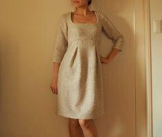 Patrón gratis: vestido Burda corte imperio (tallas 34-44)