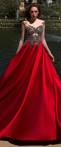 Hot Sale Satin Bateau Neckline A-line Prom Dress With Beadings