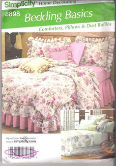 Bedding Comforters, Skirts and Shams Simplicity #8898 Sewing Pattern #Simplicity