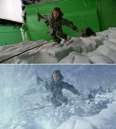 46 Famous Movie Scenes Before And After Special Effects Famous Movie Scenes, Famous Movies, Movie Date Outfits, Wolf Of Wall Street, Days Of Future Past, Movie Dates, Boardwalk Empire, Chroma Key, Planet Of The Apes