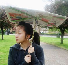 The EcoBrolly Is A Recycled Newspaper Parasol #eco trendhunter.com