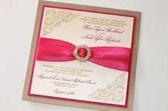 pink and gold wedding invitations - Google Search