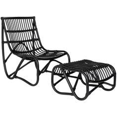 The Shenandoah chair and ottoman set brings a piece of the resorts to any room. The chic design of a curved seating with separate ottoman allowing you to place in the most comfortable positioning brings a fresh look.