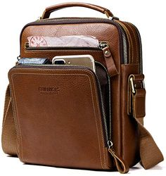 Shop the latest collection of Contacts Real Leather Mens iPad Mini Tab Messenger CrossBody Tote Bag Handbag Brown from the most popular stores - all in one place. Similar products are available. Cheap Crossbody Bags, Crossbody Tote, Leather Crossbody Bag, Leather Handbags, Leather Bags, Tote Bag, Leather Backpacks, Real Leather, Leather Men