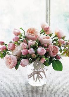 Dream #15: Fresh flowers delivered weekly ... flowers add so much warmth and cheer to a home.