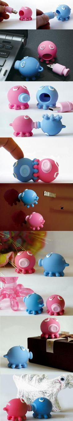 Kissing Octopus USB Flash Drive / TechNews24h.com