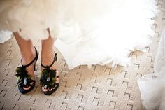 Fun wedding day shoes...  Photo by @Documentary Associates
