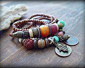 Yoga Armband - Boho Zigeuner Armband - Boho Hippie-Armband - tibetische Armband - Yoga Schmuck - Boho Schmuck - Hippie Schmuck