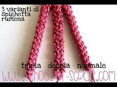 Scuola di Uncinetto: come si fa la Spighetta Rumena tripla 3D video tutorialAlessia, scrap & craft…