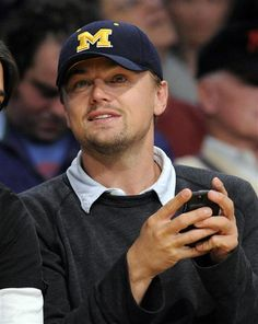 All time favorite actor wearing my favorite teams hat. I just died a little. GO BLUE and thank you Leo