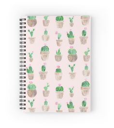 A personal favorite from my Etsy shop https://www.etsy.com/listing/492608101/pink-cactus-notebook-succulent-notebook