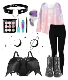 """""""Pastel Goth"""" by unikittin on Polyvore featuring WithChic, Wolford, Hera, MAC Cosmetics and Trish McEvoy"""