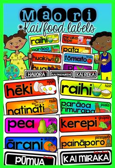 Add a splash of colour to your classroom with these bright Māori kai labels - simply cut out and laminate before displaying in your room, or use them as a sorting/grouping activity to support your discussions around healthy eating!