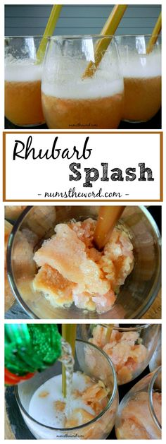 This Rhubarb Splash is a fruity, delicious drink perfect for a hot summers day. It's sweet and has a 100% approval rating by everyone who has tried it!