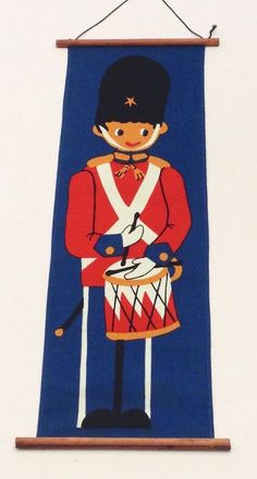 Vintage Mid Century Retro Toy Soldier Fabric Wall Hanging Art Decoration | Collectibles, Vintage, Retro, Mid-Century, Unknown | eBay!