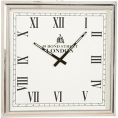 Ethan Allen Nickel Square Wall Clock ($199) found on Polyvore