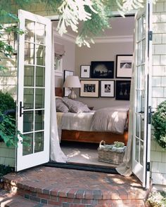 I dream of a bedroom leading to an open patio