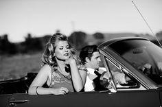 Retro Mustang Engagement Shoot - PHOTO SOURCE • BELLALU PHOTOGRAPHY