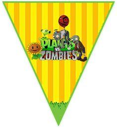 paraguita candy PLANTAS VS ZOMBIS kit imprimible