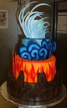 HEROES OF OLYMPUS CAKE (Bottom to top-Hazel,Leo, Percy, Jason) More