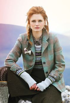 Brown and robin's egg blue. Tweed Hacking Jacket - Heritage Collection:
