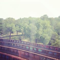 Over McKinley Park #graffiti #chicago #cta #street #art #railroad #summertime  (Taken with Instagram)