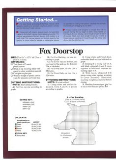 Fox Doorstop Pg 2
