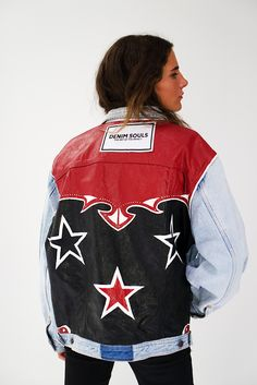 Painted Jeans, Painted Clothes, Diy Fashion, Mens Fashion, Fashion Outfits, Denim Jacket Patches, Color Negra, Style Inspiration, My Style