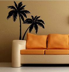 Wall PALM TREES Decal LARGE for Any Room STICKER TROPICAL DECORATION - Amazon.com