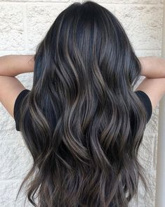 Long Wavy Ash-Brown Balayage - 20 Light Brown Hair Color Ideas for Your New Look - The Trending Hairstyle Ash Brown Hair Balayage, Ashy Hair, Brown Hair With Blonde Highlights, Brunette Hair, Hair Highlights, Ashy Brown Hair, Black Balayage, Ombre Hair Color, Hair Color For Black Hair
