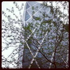 Hearst Tower, May 2013 (Twitter photo by @Kristine Garcia)