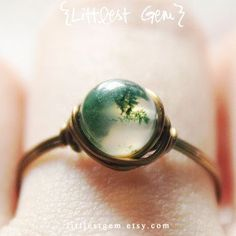 Moss Agate Ring, wire wrapped ring, wire wrapped jewelry handmade, unique ring, boho ring