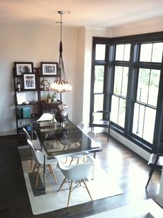 Z Gallerie Loft Chandelier in dining area. Shop this look: http://inv.lv/tF4W47