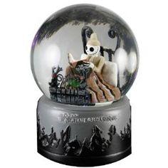 Tim Burtons Nightmare Before Christmas Pajama Jack Skellington Waterball Snow Globe