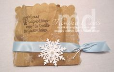 january stamping kraft gift bags - Google Search