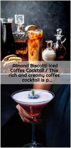Almond Biscotti Iced Coffee Cocktail / This rich and creamy coffee cocktail is p., Biscotti Iced Coffee Cocktail / This rich and creamy coffee cocktail is p. , Almond Biscotti Iced Coffee Cocktail / This rich and creamy c Easy Biscotti Recipe, Coffee Cocktails, Iced Coffee, Cocktail Recipes, Almonds, Happy Hour, Summer, Summer Time, Summer Recipes