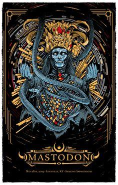 Mastodon – Louisville, KY 2019 by Scott Buoncristiano Music Artwork, Metal Artwork, Art Music, Tour Posters, Band Posters, Concert Posters, Gig Poster, Pop Art Wallpaper, Angels And Demons
